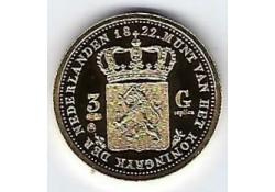 Replica 3 Gulden goud 1822 (zilver)