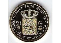 Replica 2½ Gulden 1874 Goud (zilver)