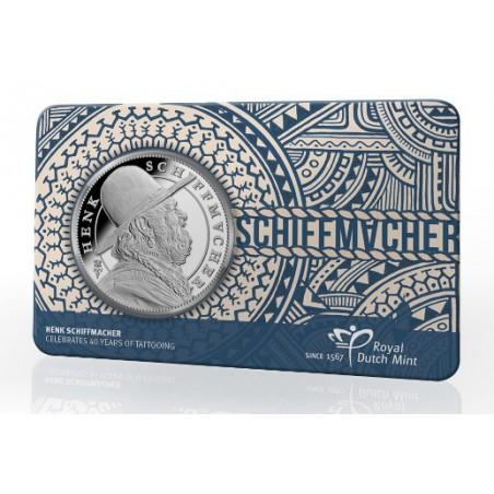 Nederland 2019 Penning Henk Schiffmacher in Coincard