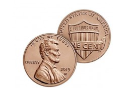 U.S.A. 1 Cent 2019 W (West point) Unc