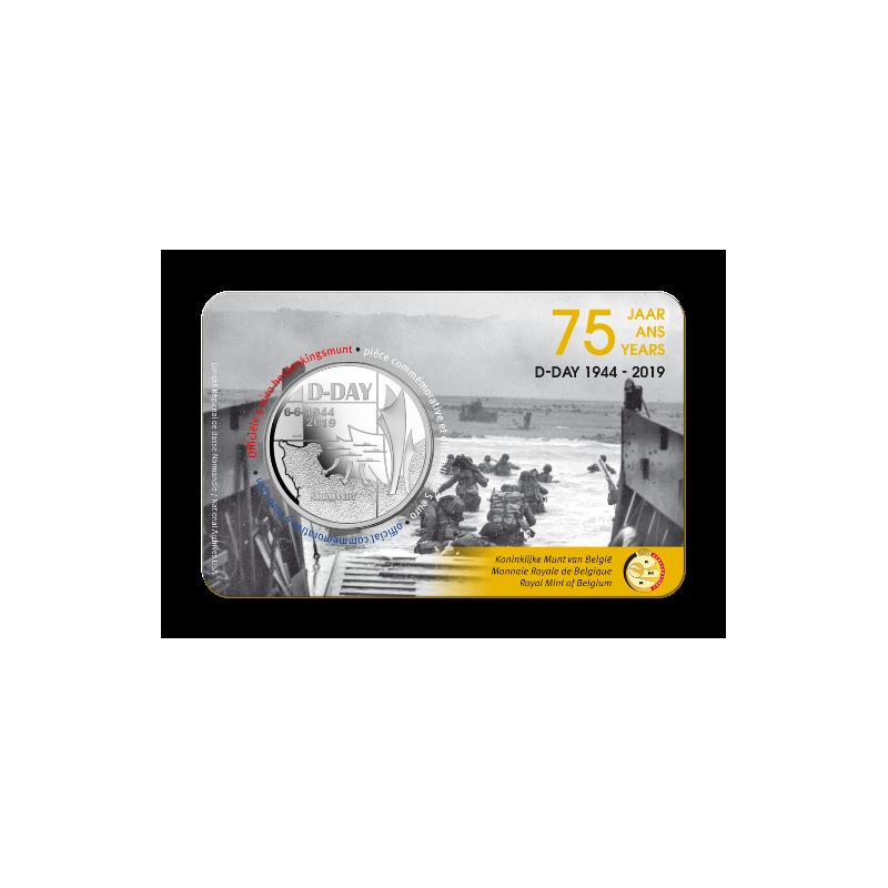 België 2019 5 euro '75 jaar D-Day' Bu in coincard Voorverkoop*