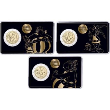 2 Euro Frankrijk 2019 Asterix & Obelix  serie van 3  coincards Voorverkoop*