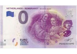 0 Euro biljet Nederland 2019 - Rembrandt Het Joodse Bruidje