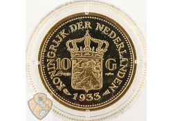 Replica gouden 10 gulden 1933 Wilhelmina (Zilver)