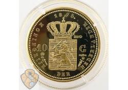 Replica gouden 10 Gulden Willem III 1875 (Zilver)