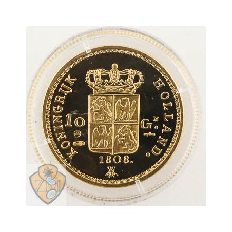 Replica van de 10 Gulden Goud Lodewijk Napoleon 1808 (zilver)