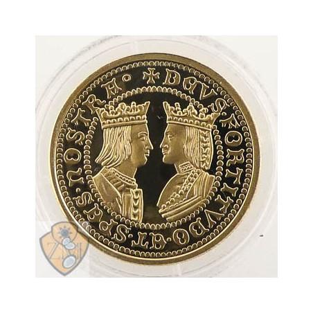 Replica van Dubbele Spaanse Dukaat West-Friesland Ca. 1600 (zilver)