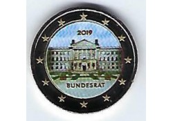 2 Euro Duitsland 2019  Bundesrat Gekleurd
