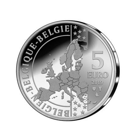 België 2019 5 euro '50 jaar eerste mens op de maan' Zilver Proof