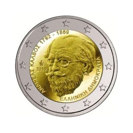 2 euro Griekenland 2019 Andreas Kalvos Voorverkoop*