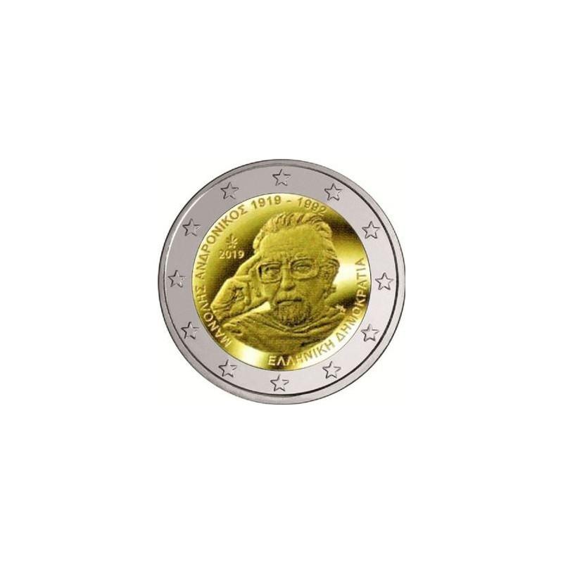 2 Euro Griekenland 2019 Manolis Andronico Unc Voorverkoop*