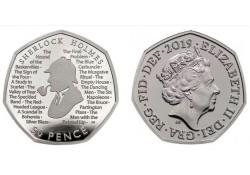Groot Britannië 2019 50 Pence  Unc Sherlock Holmes
