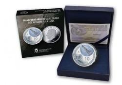 Spanje 2019 10 euro' Maanlanding' Zilver proof