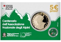 Italië 2019 5 euro Alpini Proof in coincard