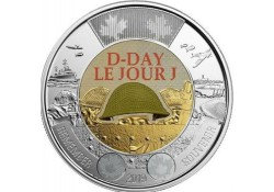 Canada 2019 2 dollar D-Day Gekleurd Unc