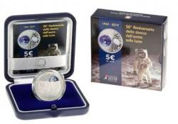 Italië 2019 5 Euro 'Landing op de maan' Proof