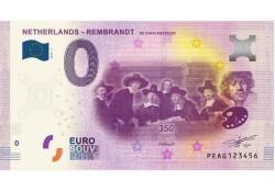 0 Euro biljet Nederland 2019 - Rembrandt De Staalmeesters