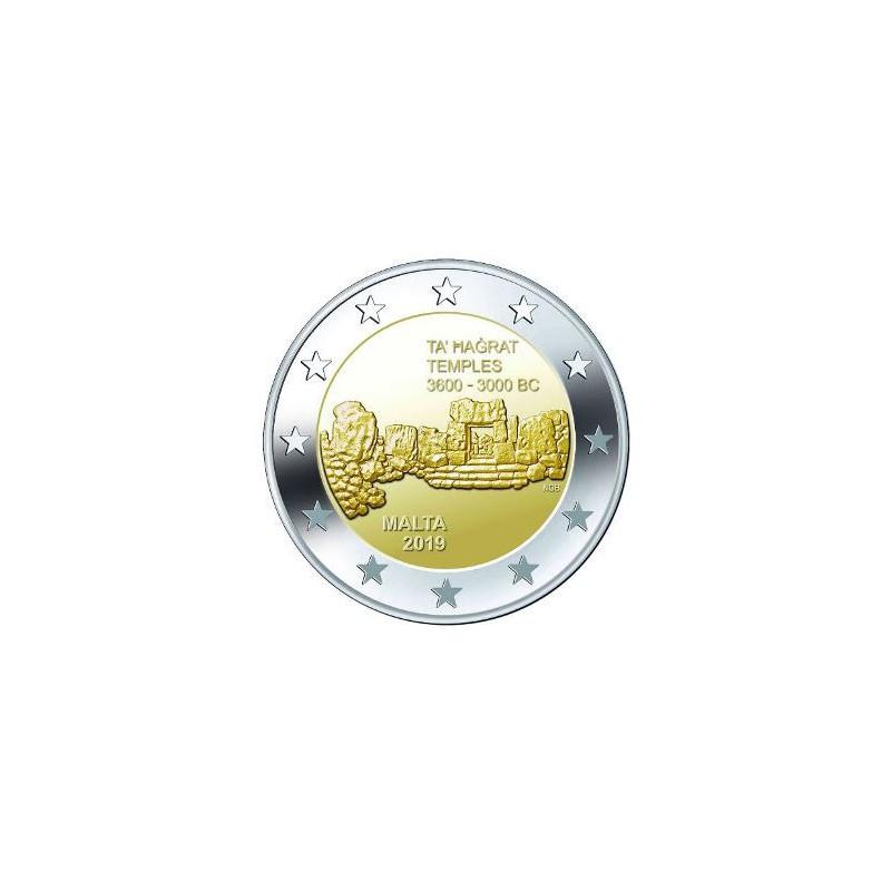 2 euro Malta 2019 Tempel Ħaġrat Unc