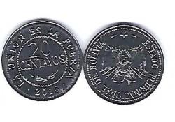 Bolivia 2016 20 Centavos Unc