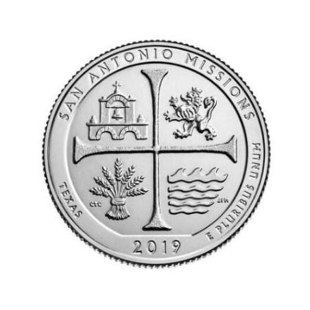 U.S.A ¼ Dollar San Antonio Missions 2019 S UNC