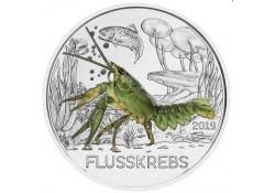 Oostenrijk 2019 3 euro Rivierkreeft Unc