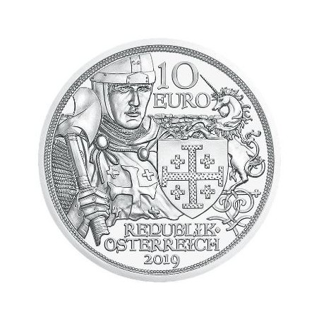 10 Euro Oostenrijk 2019 Ridderslag Zilver Bu in blister