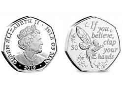 Isle of man 2019 50 Pence Unc Tinkerbell