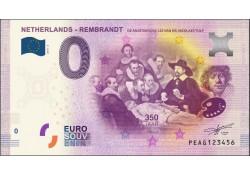 0 Euro biljet Nederland 2019 - Rembrandt De Anatomische les van Dr. Nicolaes Tulp
