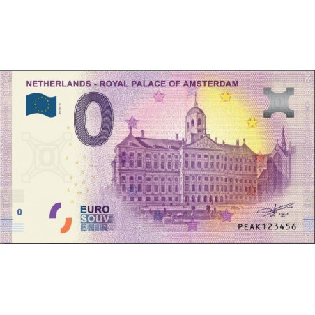 0 Euro biljet Nederland 2019 - Royal Palace of Amsterdam
