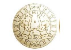 San Marino 2019 5 Euro Zodiac-Tweeling Unc