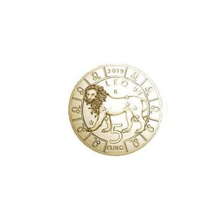 San Marino 2019 5 Euro Zodiac-Leeuw Unc