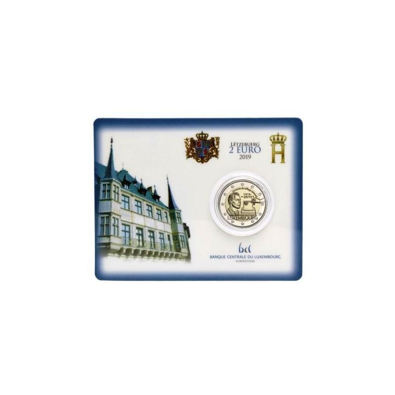 2 euro Luxemburg 2019 100 jaar Stemrecht Bu in Blister met muntteken Servaas