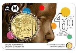 """België 2019 2½ Euro '400 jaar Manneken Pis"""" Bu in coincard Vlaams Voorverkoop*"""