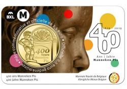 """België 2019 2½ Euro '400 jaar Manneken Pis"""" Bu in coincard Waals Voorverkoop*"""