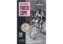Italië 2019 5 euro Fausto Coppi in blister