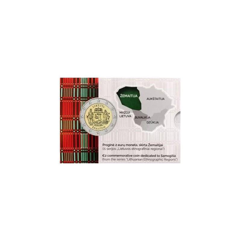 2 Euro Litouwen 2019 Samogitia Bu in coincard