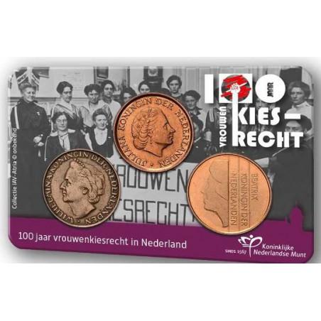 Nederland 2019 100 jaar vrouwenkiesrecht in coincard