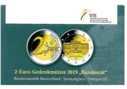 2 Euro Duitsland 2019 F Bundesrat