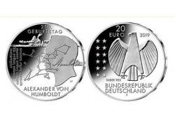 """20 Euro Duitsland 2019 F  """"Alexander von Humboldt"""" Unc"""
