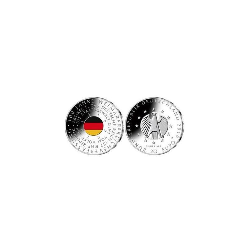 """20 Euro Duitsland 2019 A  """"100 Jaar Weimar"""" Unc"""