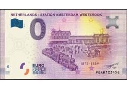 0 Euro biljet Nederland 2019 - Station Amsterdam Westerdok