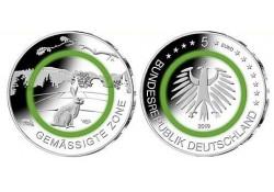 Duitsland 2019 5 euro Gematigde zone  25xF in rol