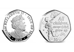 Isle of man 2019 50 Pence Unc Peter Pan All Children
