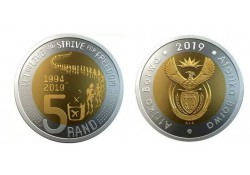Zuid Afrika 2019 5 Rand Unc Strive for Freedom