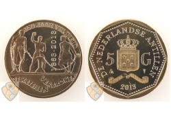 5 Gulden Nederlandse Antillen 2013 ABS Slavernij
