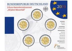 2 Euro Duitsland 2019 ADFG & J Val van de Berlijnse Muur bU