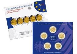 2 Euro Duitsland 2019 ADFG & J Val van de Berlijnse Muur Proof