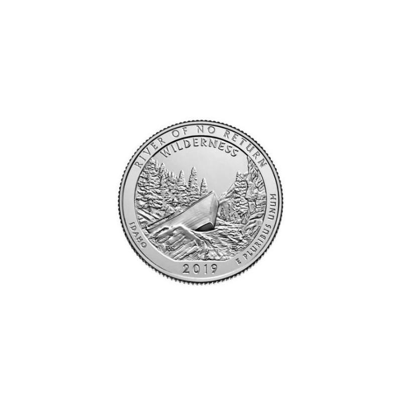 U.S.A ¼ Dollar 'River of no return' 2019 D UNC