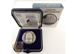 Italië 2019 10 euro Cathedraal Lombardia zilver proof.