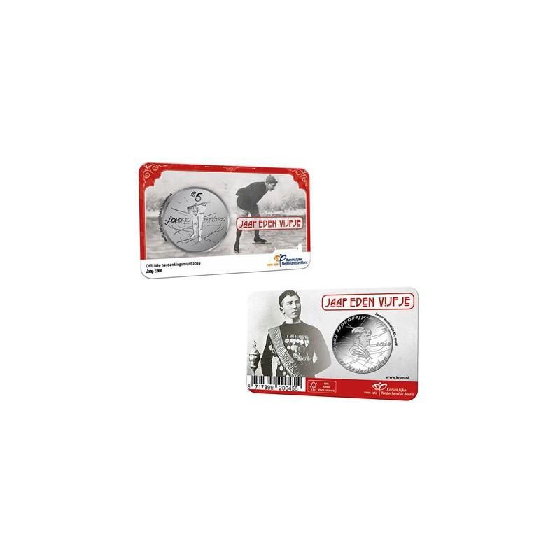 Nederland 2019 Het Jaap Eden Vijfje Unc in coincard Voorverkoop*